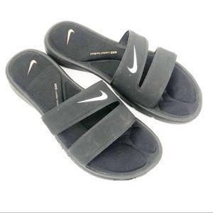 Nike Shoes - Nike slide flip flop air cushion black white logo